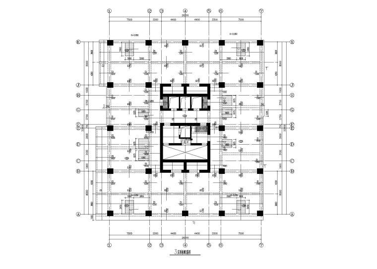 [内蒙古]31层框筒结构商业广场结构施工图(2012)