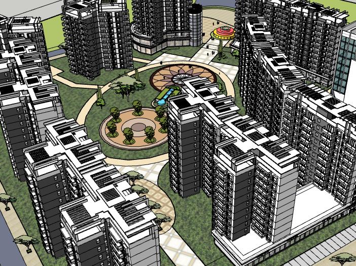[辽宁]高层住宅小区建筑模型设计