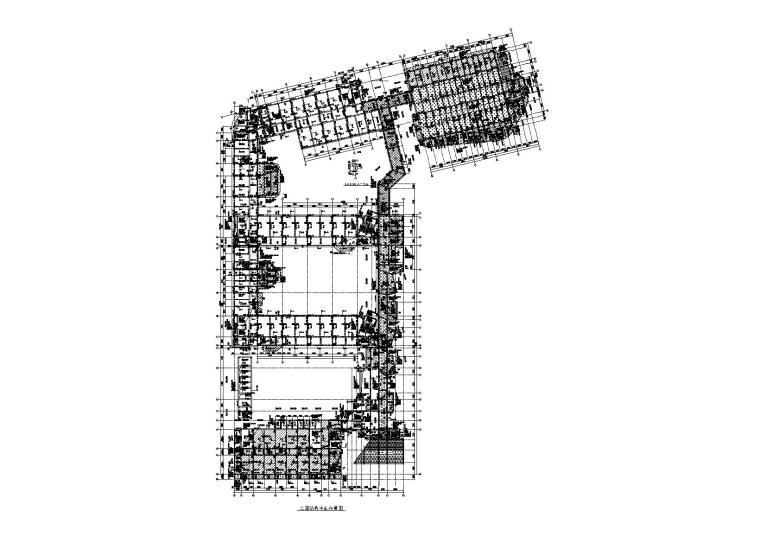 钢混框架结构小学建筑结构水暖电全套图2018