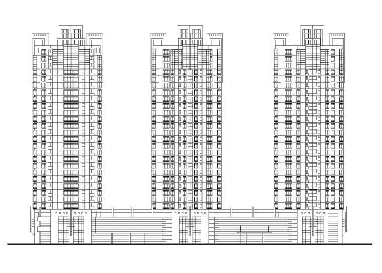 丰湖某大型高层住宅楼建筑施工图(CAD)