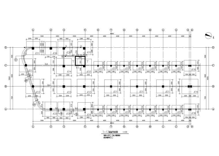 钢混框架结构装配车间全套施工图(建筑结构水电)