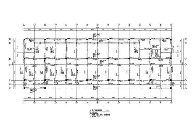 4层钢混框架结构办公楼全套施工图(建筑结构水电)