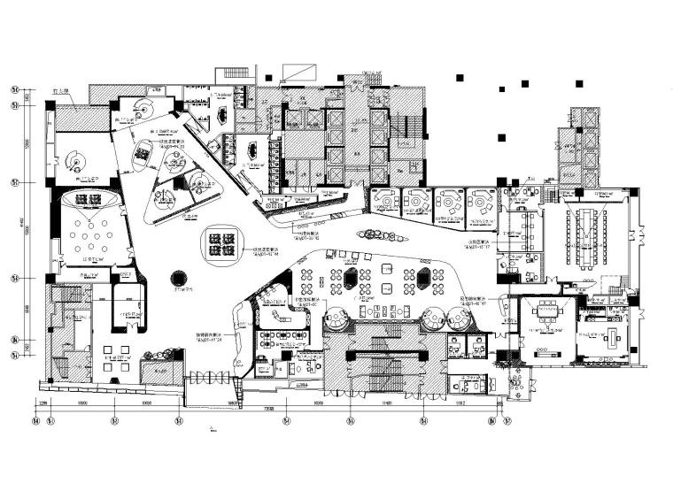 [广东]民盈集团办公写字楼销售中心室内装修CAD施工图+效果图