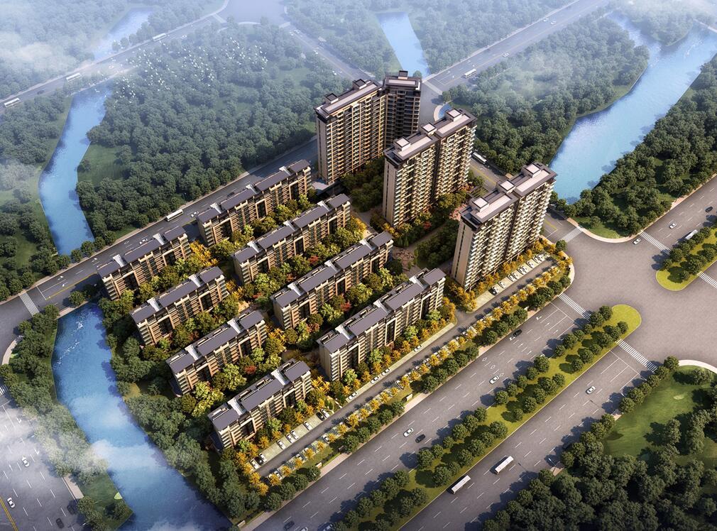 [上海]淀山湖大道新中式風格居住區建筑方案文本(霍普設計PPT+156頁)