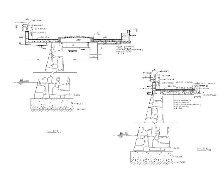 50款挡土景墙CAD施工图(26-50)