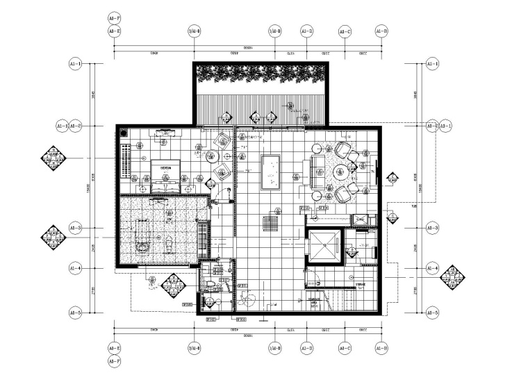 [海南]scda-三亚艾迪逊型别墅大学a+b私人室内装修cad施工图+室内&北京室内设计户型有哪些图片