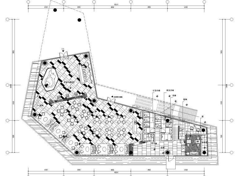 [江西]奥迅设计-南昌新力名门世家售楼处室内装修CAD施工图+PPT深化方案+效果图(附电气图)