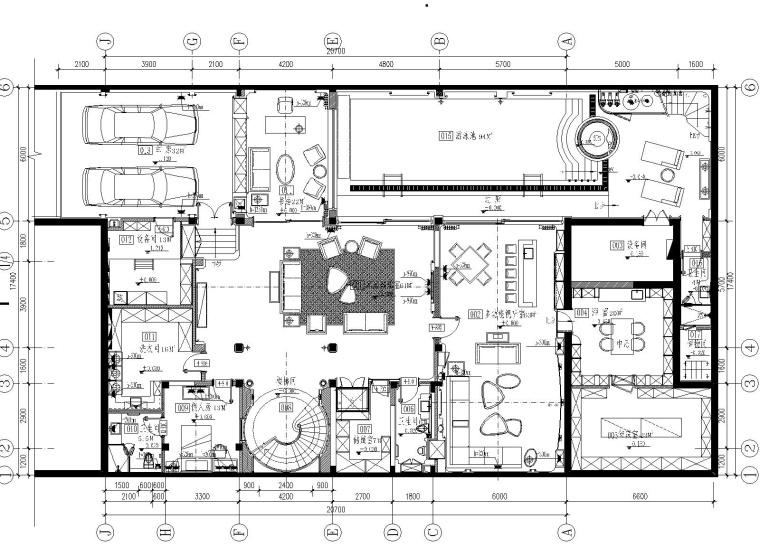 1200㎡超豪华私人独栋别墅全套施工图+方案PPT+高清效果图