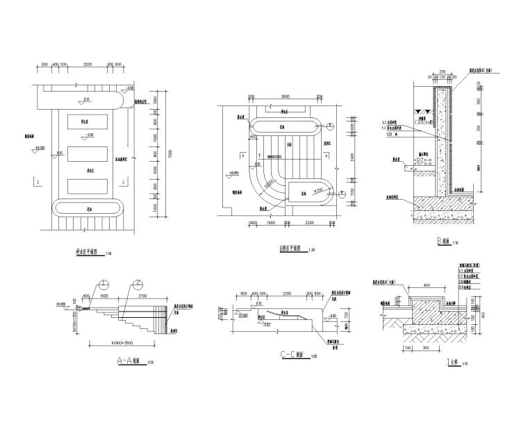 37套泳池浴场CAD施工图(21-37)