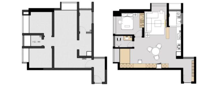 61㎡小两居,次卧改成开放式榻榻米休闲区,宽敞不少!