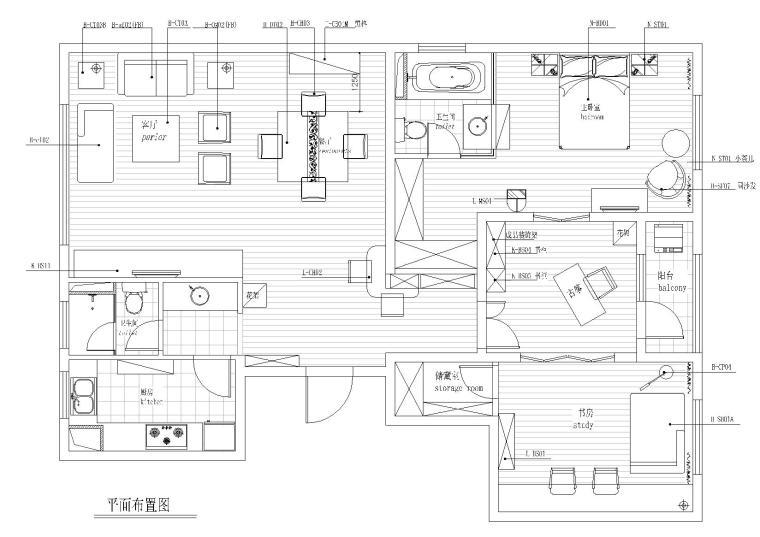 [江苏]苏州朗诗国际样板间全套CAD施工图