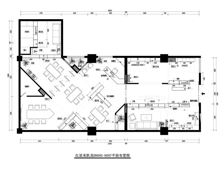 [福州]品悦-译景复合空间施工图+效果图