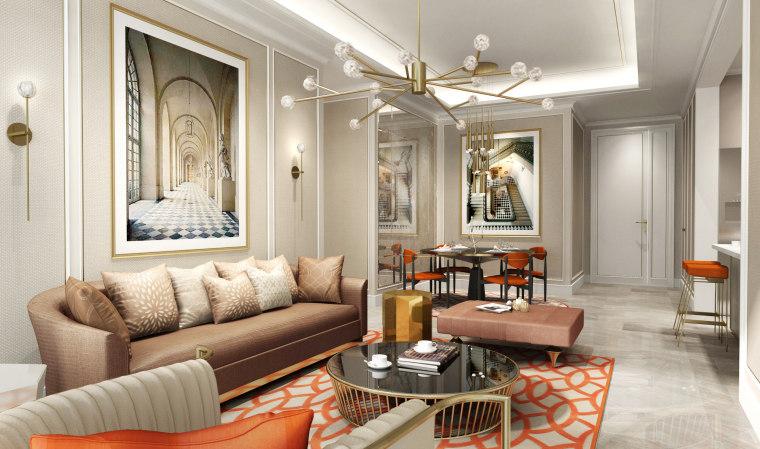 上海朱周空间-重庆凯德来福士公寓样板房汇报方案+效果图丨PDF+JPG丨37P