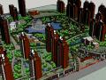现代风格高层住宅小区建筑模型设计