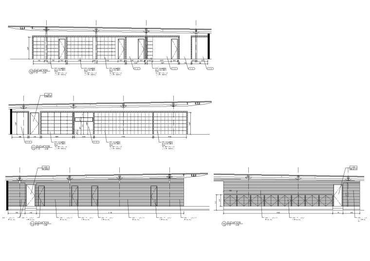 [上海]Kokaistudios-上海外滩18号1100㎡酒吧效果图+施工图+机电+厨房+摄影-酒吧室内设计立面图(3)