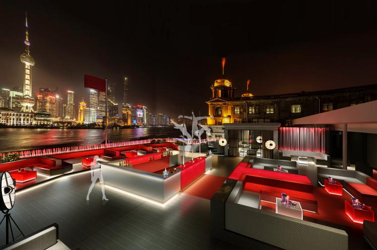[上海]Kokaistudios-上海外滩18号1100㎡酒吧效果图+施工图+机电+厨房+摄影-1