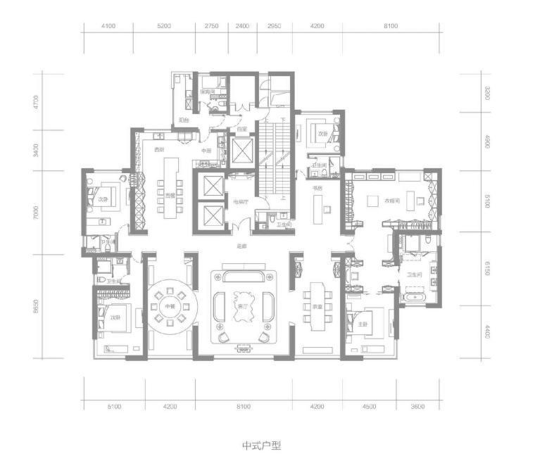 [郑州]梁建国-建业天筑603㎡超大平层样板间全套施工图CAD+官方摄影