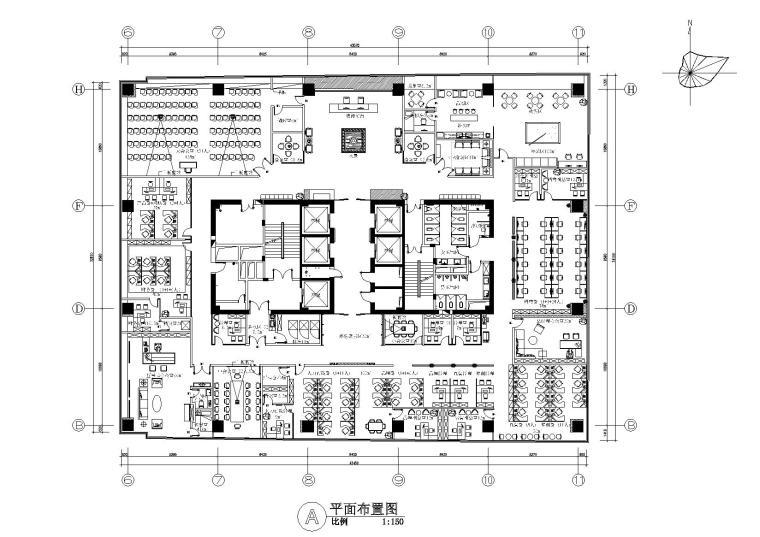 [广东]HDD-深圳灵云珠宝有限公司室内装修施工图+效果图