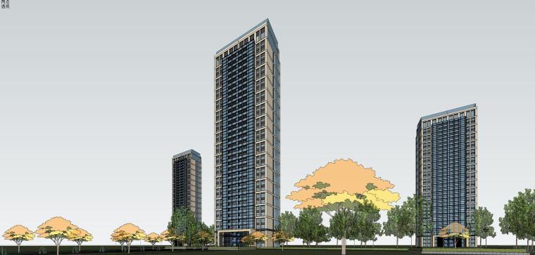 [浙江]杭州龙湖高层住宅建筑模型设计(日清设计)