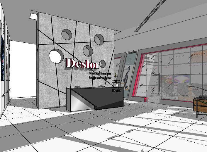 化妆品展厅室内模型设计