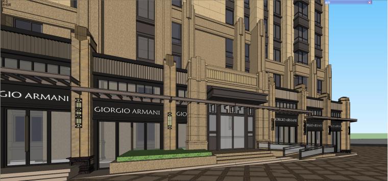 新古典沿街商业su模型资料下载-[甘肃]保利兰州新古典高层+沿街商业建筑模型设计