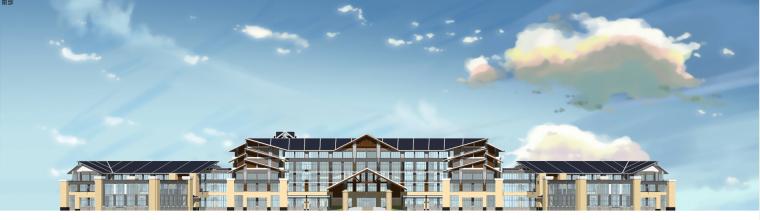 东南亚风格-组合场馆建筑设计SU模型