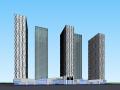 保利高层办公楼建筑模型设计(现代风格)