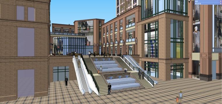 龙湖欧式商业住宅小区建筑模型设计