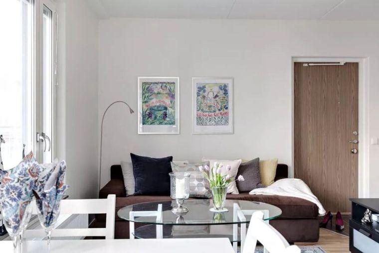表姐的44㎡单身公寓,简约时尚还有两个休闲阳台,太漂亮了!