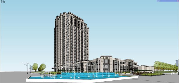 新古典建筑模型设计(公寓+会所+多层)