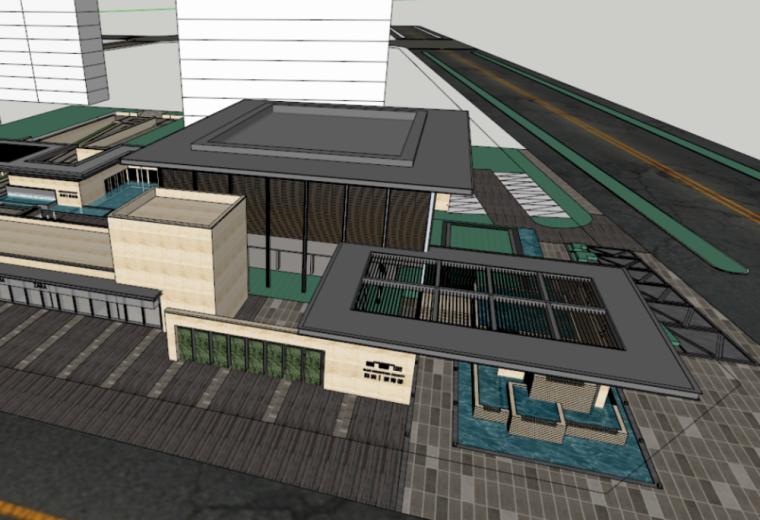 禹洲蓝湾郡示范区建筑模型设计(新中式风格)