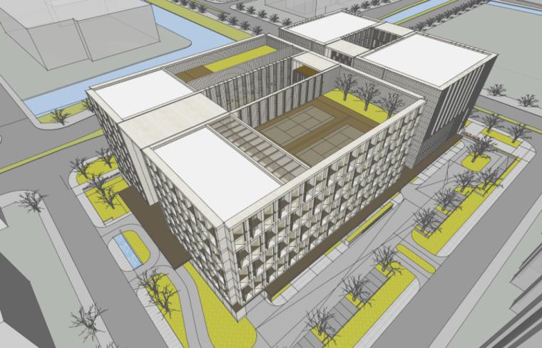 中国农业银行宁波市分行建筑方案设计(DC国际)
