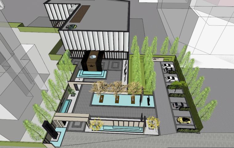 [河南]郑州尚建新亚洲风格建筑模型设计 售楼处+室内