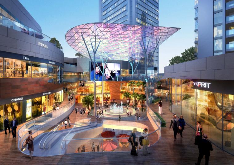 [云南]云南大理云路中心AB地块商业综合体建筑模型设计