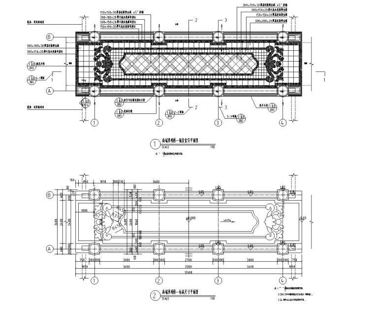 景观细部施工图|高端桥施工图设计