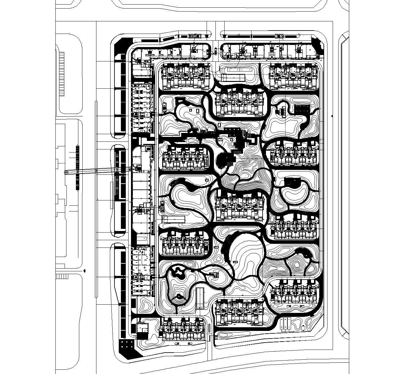 [北京]龙湖时代天街居住区全套CAD施工图(含:实景照片)