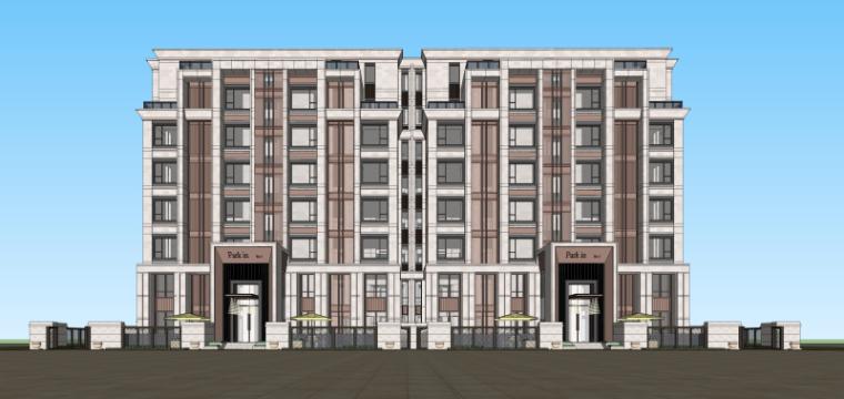 [湖北]武汉新城雍璟台洋房建筑模型设计