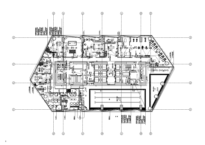 山東青島大型五星級酒店項目改造及配套設施電氣施工圖