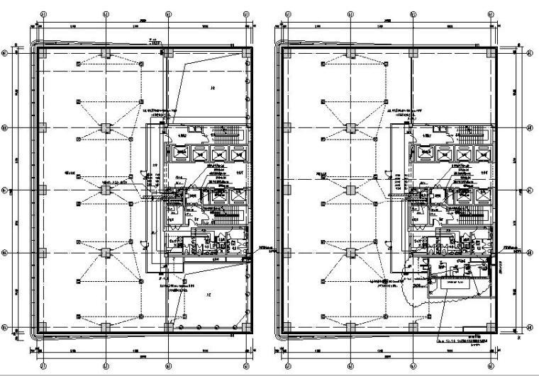 北京大型办公园区及配套商业电气竣工图