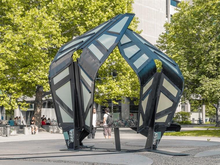 德国自适应折叠凉亭装置