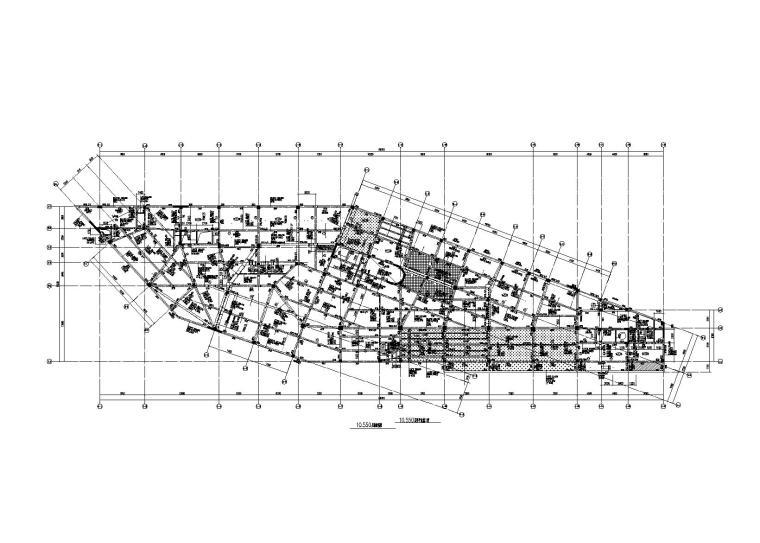 [绍兴]6层不规则框剪结构俱乐部大楼建筑结构施工图(2014)