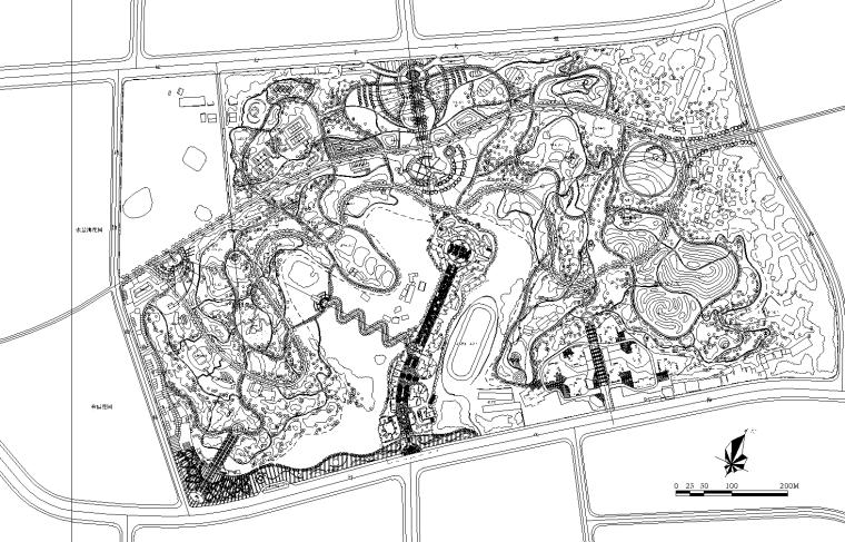 [四川]某县城公园景观设计CAD施工图