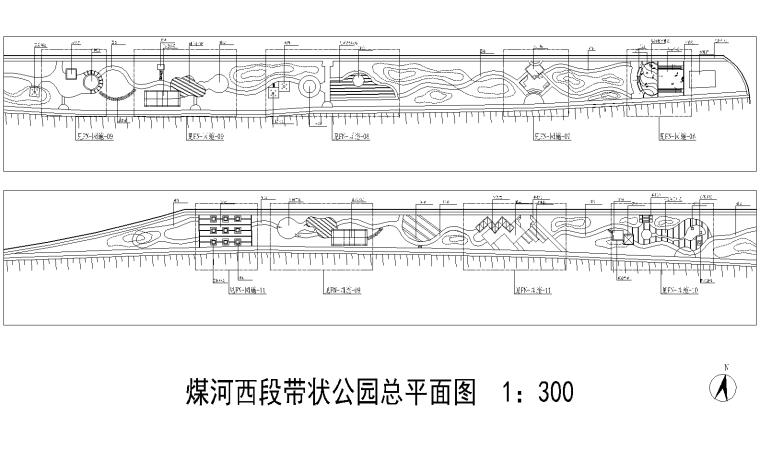 [河北]唐山煤河带状公园景观设计CAD施工图