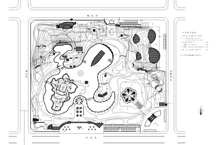 [河北]石家庄市希望绿洲公园CAD施工图