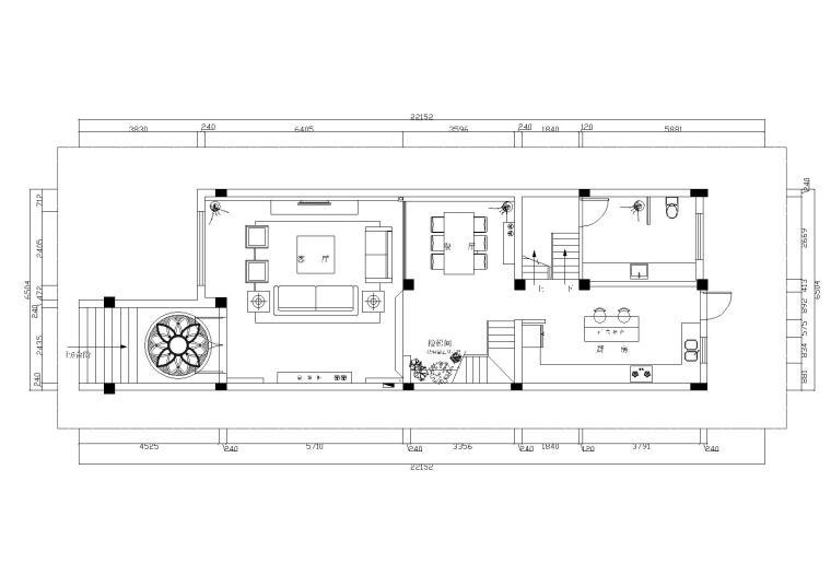[江苏]扬州高先生别墅装饰CAD施工图+效果图