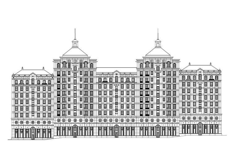 [广东]广州花都区某现代住宅楼群建筑施工套图(含各专业图纸)
