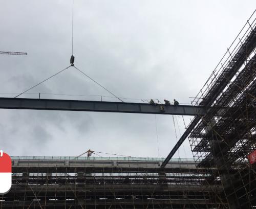提高钢结构大截面钢梁超远距离高空吊装质量合格率(图文并茂)