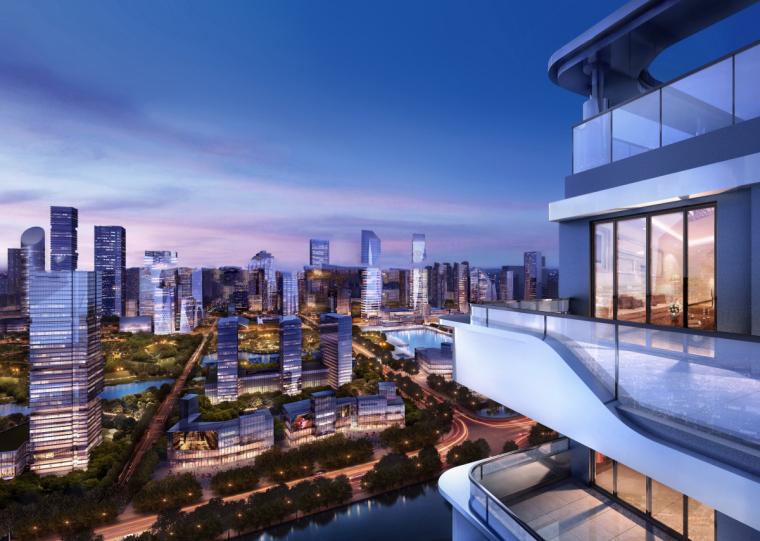现代风格滨江高层跃层豪宅+酒店建筑设计