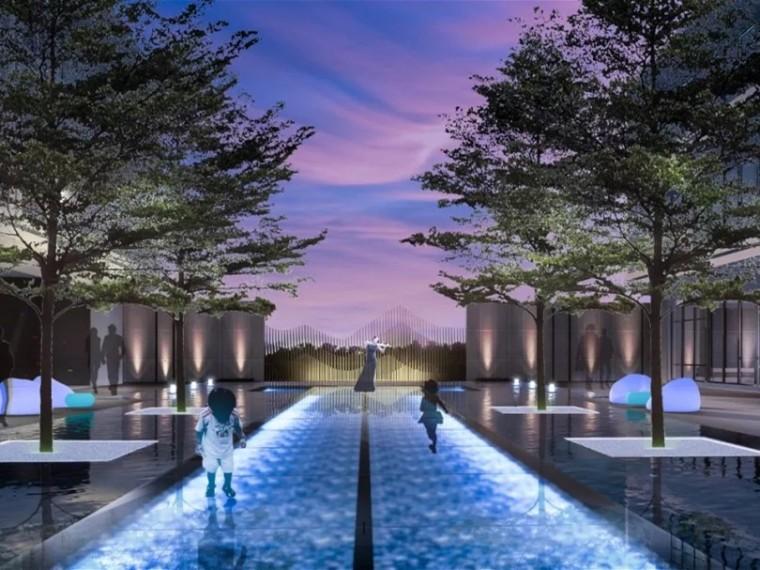 福州三盛国际湾区居住区景观