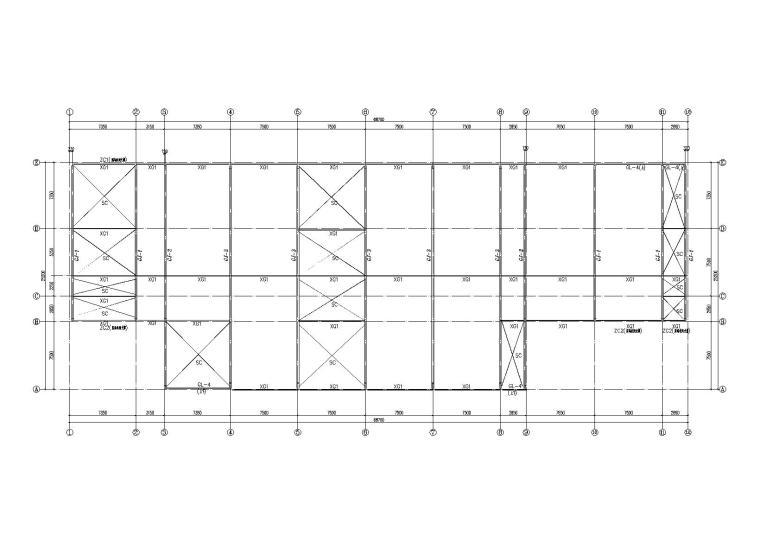 单层轻钢结构车库建筑结构施工图(2014)